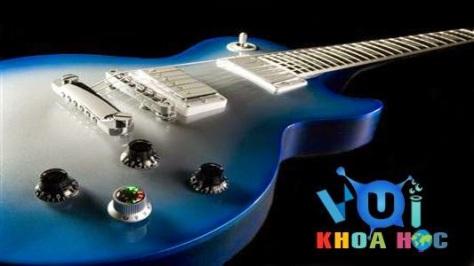 gphimlom_Cây guitar điện màu xanh đẹp tuyệt