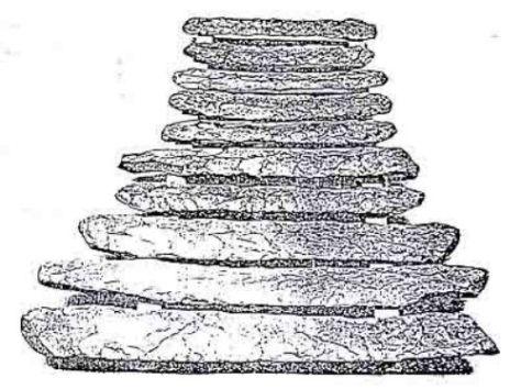 Đàn đá Nđut Liêng Krak (ảnh Viện Bảo Tàng Con Người - Paris).