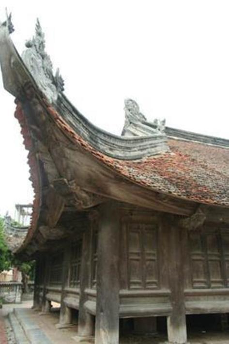 Mái cong Làng Đình Bảng.