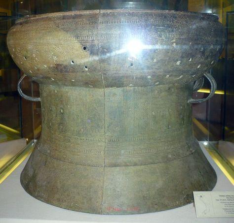 Trống Đồng Hoàng Hạ, loại Heger I, trưng bày tại Bảo tàng lịch sử Việt Nam, Hà Nội, Việt Nam.