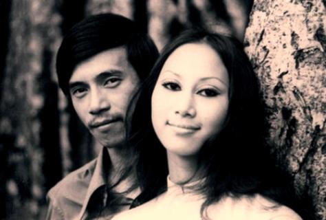 Ca sĩ Lê Uyên và chồng là nhạc sĩ Lê Uyên Phương.