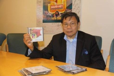 KS/NS Quách Vĩnh Thiện, viện sĩ hàn lâm viện Âu Châu, người đã bỏ ra 5 năm để phổ nhạc toàn bộ tác phẩm Truyện Kiều của đại thi hào Nguyễn Du. (Hình: Ngọc Lan/Người Việt)