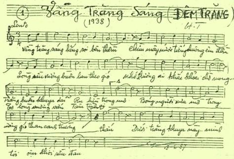 Ca khúc đầu tiên Vầng Trăng Sáng (ĐêmTrăng) của NS Hoàng Trọng.