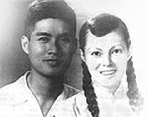 Nguyễn Văn Tý và bà Bạch Lệ, năm 1952.