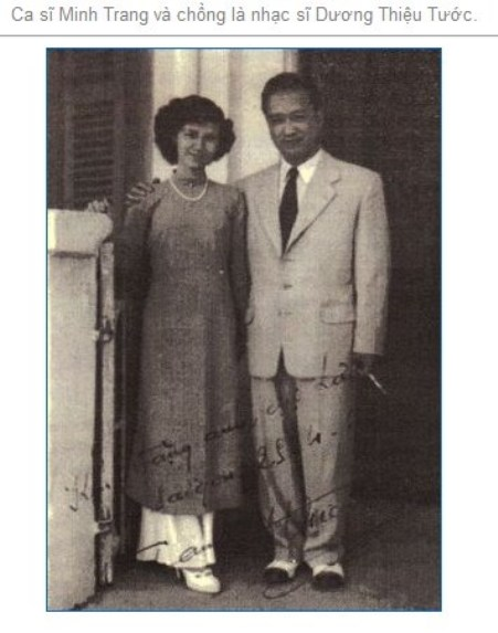 Ca sĩ Minh Trang và NS Dương Thiệu Tước.
