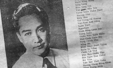 Ảnh nhạc sĩ Dương Thiệu Tước trên một bìa nhạc.