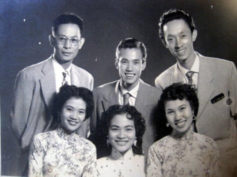 NS Phạm Duy, NS Phạm Đình Chương, Hoài Trung, Thái Hằng, Khánh Ngọc, Thái Thanh.