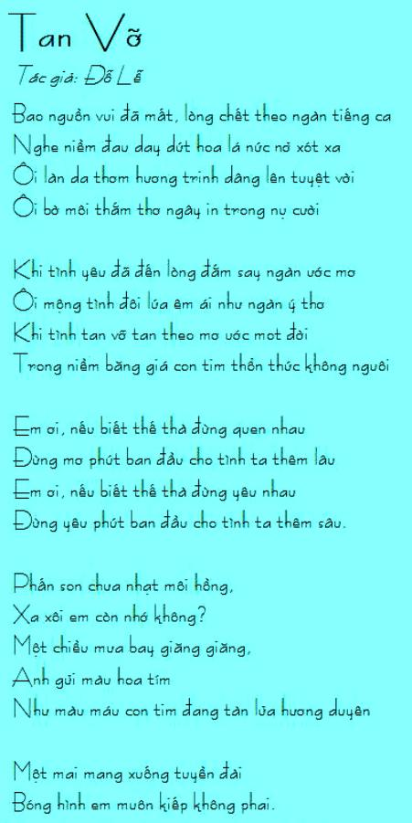 dole_Tan Vỡ
