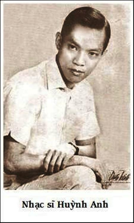 Nhạc sĩ Huỳnh Anh thời trẻ.