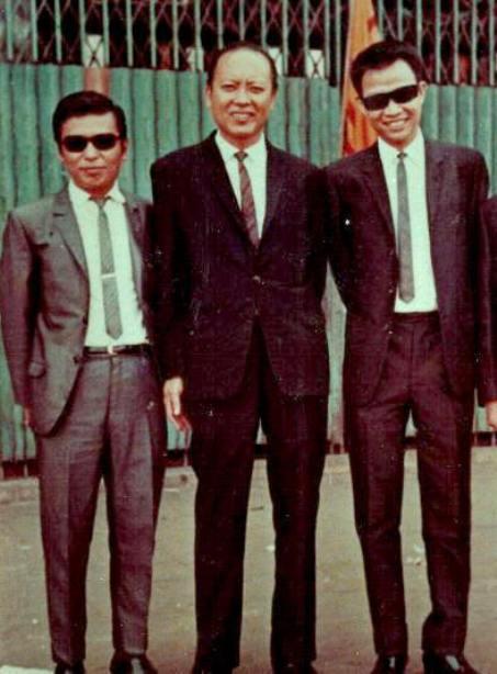 Từ trái sang phải: Anh Bằng, Minh Kỳ, Lê Dinh.