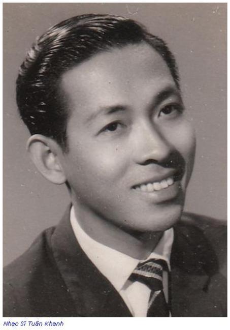 Nhạc sĩ Tuấn Khanh thời trẻ.