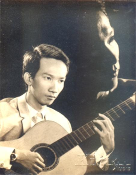 Nhạc sĩ Bảo Thu thời trẻ.