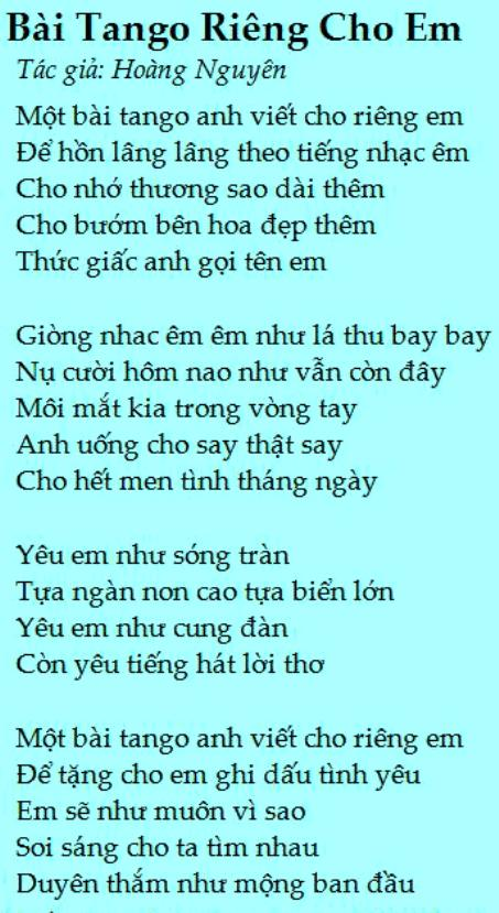 hoangnguyen_Bài Tango Cho Riêng Em