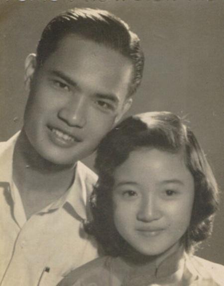 Vợ chồng nhạc sĩ Thanh Sơn thời trẻ.
