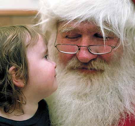 Santa Claus và em bé.