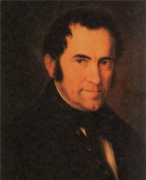 Franz Xaver Gruber, vẽ bởi Sebastian Stief (1846).