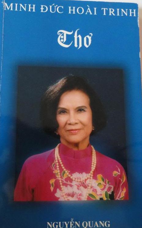 Nhà văn/Thi sĩ Minh Đức Hoài Trinh.