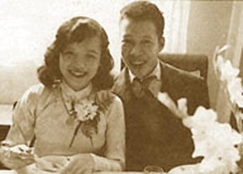 Nhà thơ Nguyên Sa và vợ - Trịnh Thúy Nga.