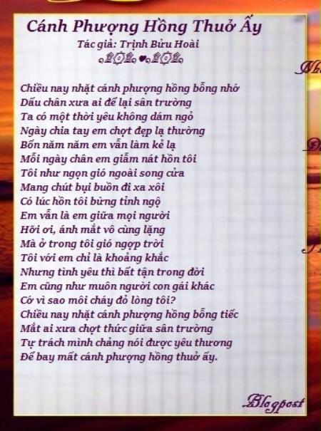 trinhbuuhoai_Cánh Phượng Hồng Thuở Ấy
