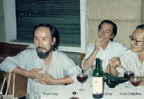 Trịnh Cung, Đinh Cường, Trịnh Công Sơn.