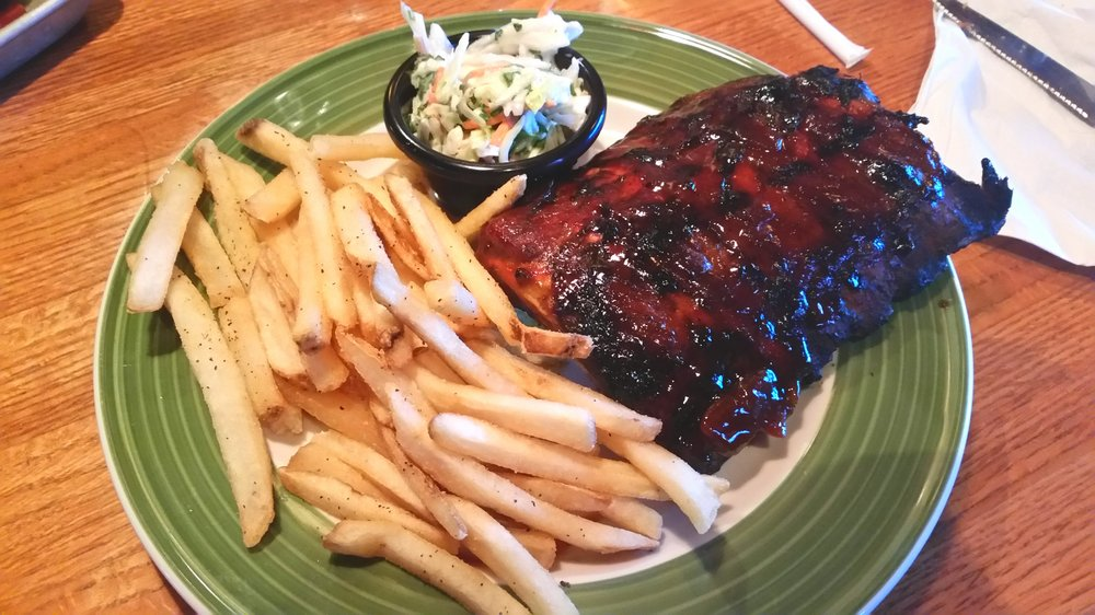 """Half Rack"" of ""Double-Glazed Baby Back Ribs""."