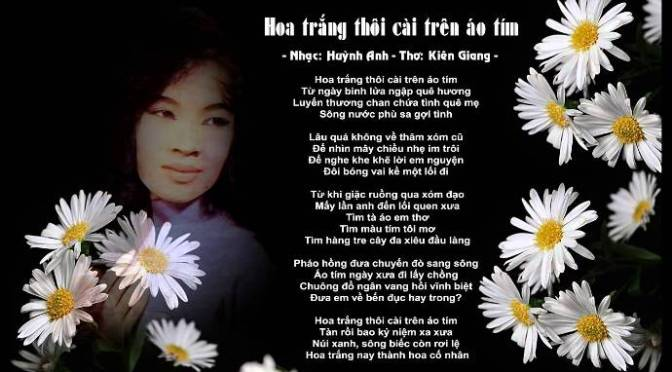 """Tân Nhạc VN – Thơ Phổ Nhạc – """"Hoa Trắng Thôi Cài Trên Áo Tím"""" – Kiên Giang & Huỳnh Anh"""
