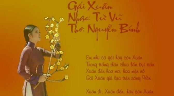 """Tân Nhạc VN – Thơ Phổ Nhạc – """"Gái Xuân"""" – Nguyễn Bính & Từ Vũ"""