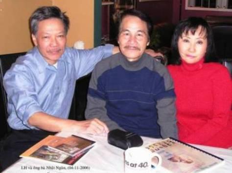 Luân Hoán và vợ chồng Nhạc sĩ Nhật Ngân (2006).