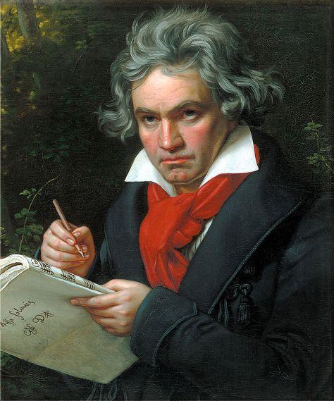 Nhạc sĩ Ludwig Van Beethoven.