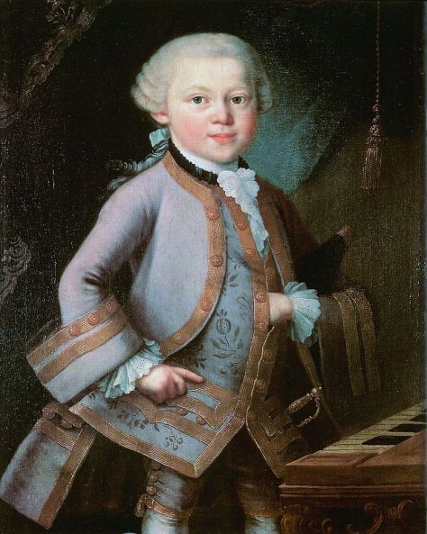 Nhạc sĩ W. A. Mozart thời thơ ấu.