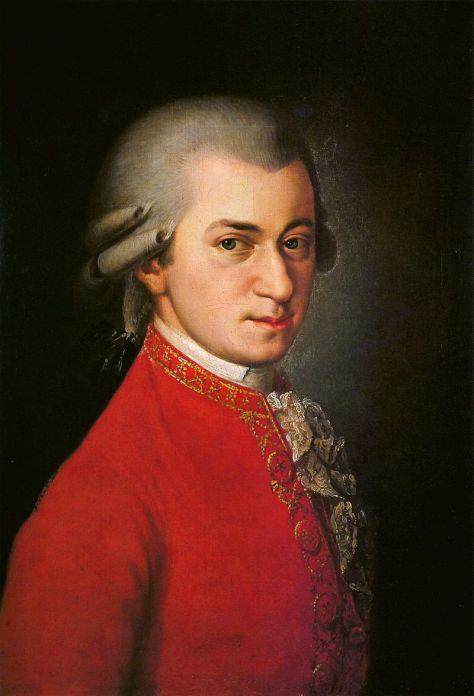 W. A. Mozart, chân dung vào năm 1819 do Barbara Krafft vẽ.