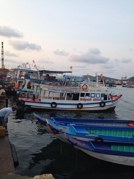 Ảnh ghe thuyền trên bến cảng Quốc tế An Thới Phú Quốc