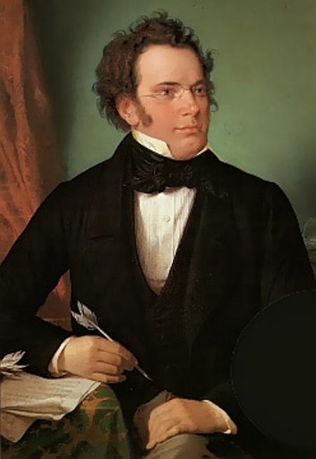 Nhạc sĩ Franz Schubert, tranh sơn dầu của Wilhelm August Rieder (1875), làm trực tiếp từ bức tranh chân dung màu nước vẽ năm 1825.