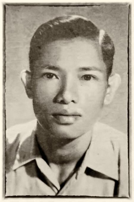 Thi sĩ Tạ Ký thời trẻ.