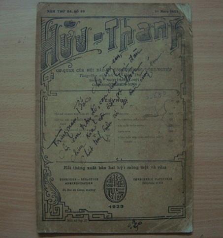 Hữu Thanh Tạp Chí 1921.