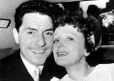 Édith Piaf và Jacques Pills.
