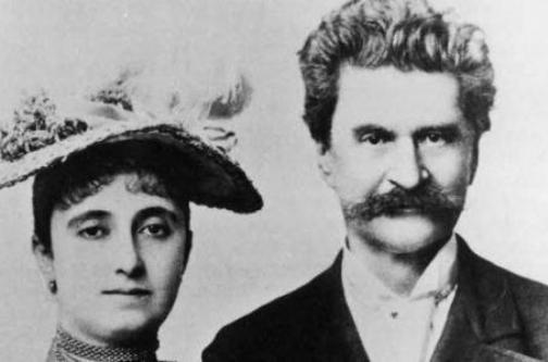 Nhạc sĩ Johann Strauss II và vợ Adele.