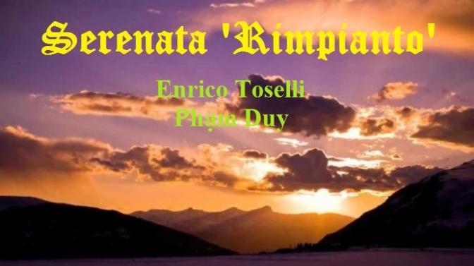 """Tân Nhạc VN – Nhạc Ngoại Quốc Lời Việt – Thời Kỳ Lãng Mạn – """"Chiều Tà"""" (Serenata 'Rimpianto') – Enrico Toselli"""