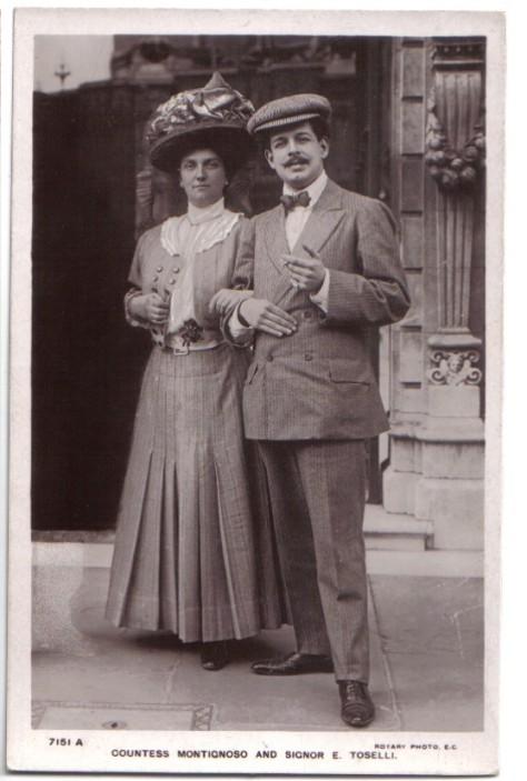 Countess Montignoso (Luise) và Enrico Toselli trong ngày cưới.