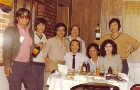 Nguyễn Long, Nam Lộc, Tùng Giang và bạn hữu tiếp đón Trường Kỳ thăm Mỹ Quốc lần đầu tiên - Orange County, 1982.