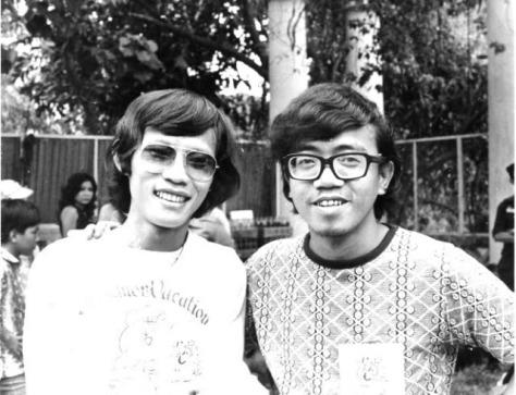 Nhạc sĩ Tùng Giang và Nhạc sĩ Trường Kỳ thập niên 60.