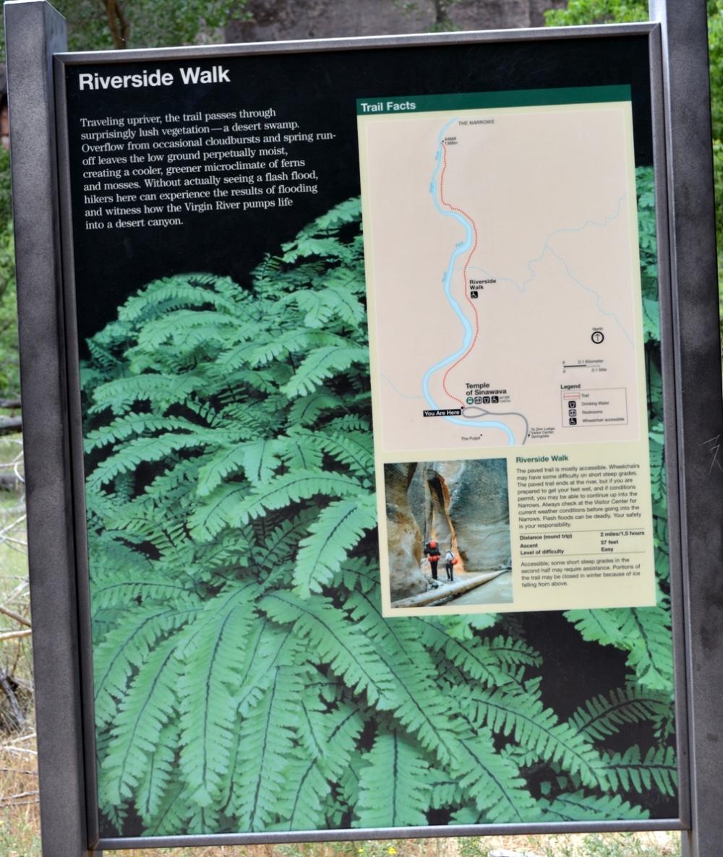 Thông tin về khu vực Riverside Walk.