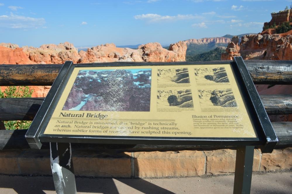 Thông tin về khu vực Natural Bridge.