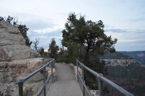 Còn phải qua cây cầu chơi vơi nối hai cạnh canyon này.