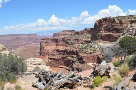 Đường lên Canyons. Các bạn có thấy chiếc ô tô đang bò lên dốc?
