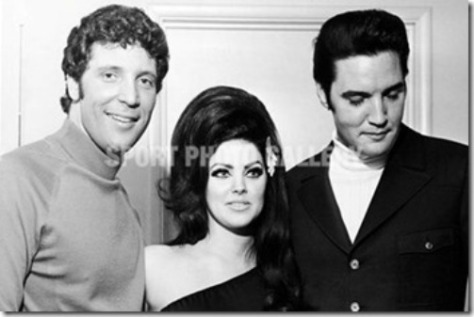 Tom Jones, Priscilla và Elvis Presley.