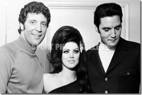 Tom Jones, Priscilla và Elvis Presley.