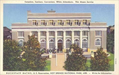 Hình post card của nhà tắm Buckstaff Baths năm 1930.