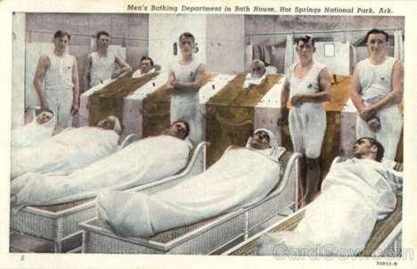 Ảnh post card phòng tắm nam năm 1941.