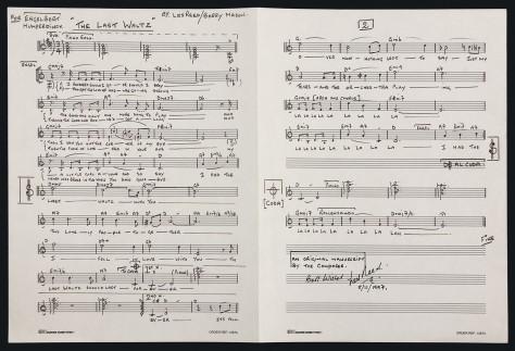 """Bản viết tay và ký tên của Les Reed cho hòa âm của """"The Last Waltz""""."""